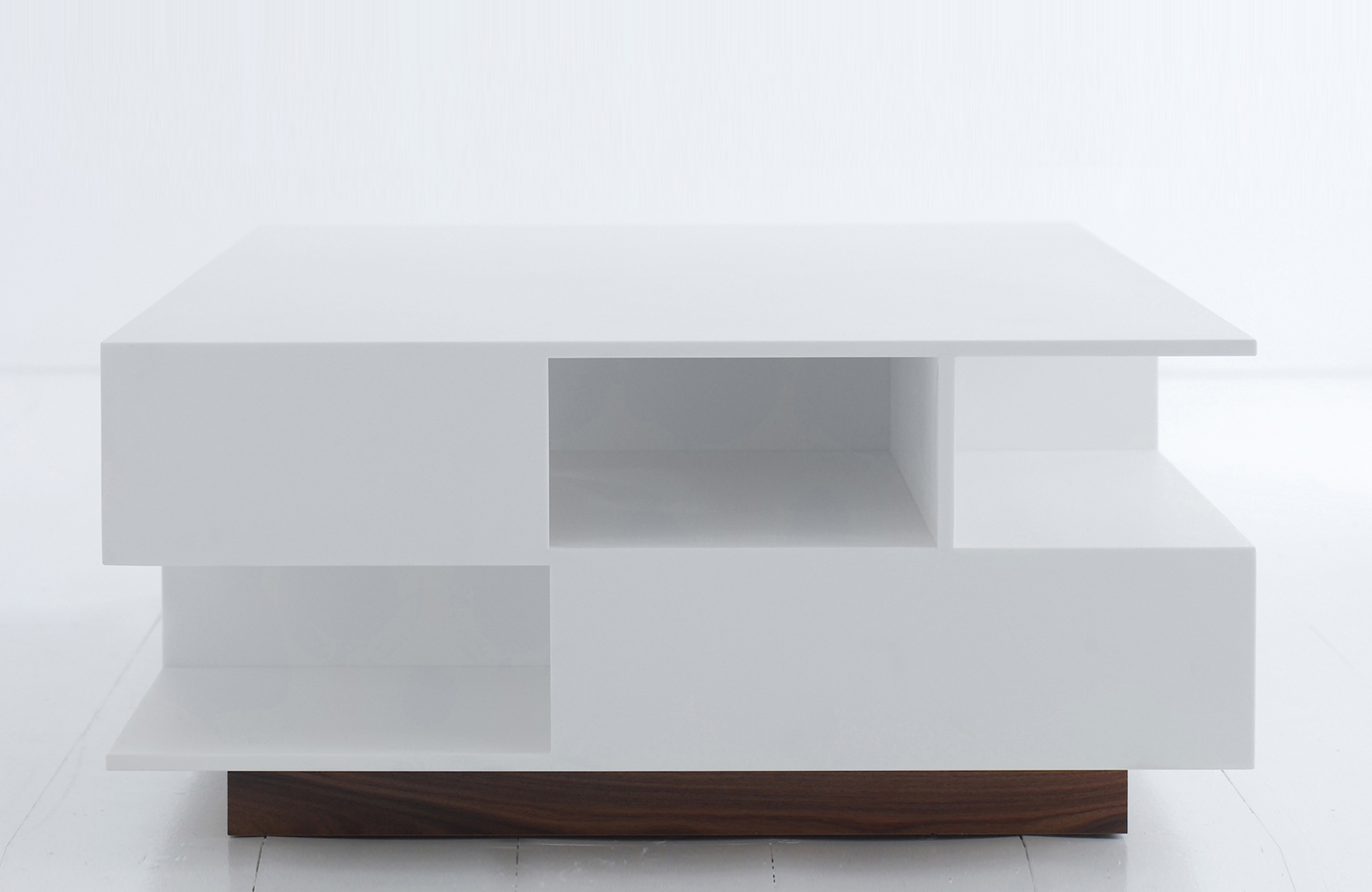 Penthouse coffee table 80x140x36cm in snowwhite composite. Design Morten Voss