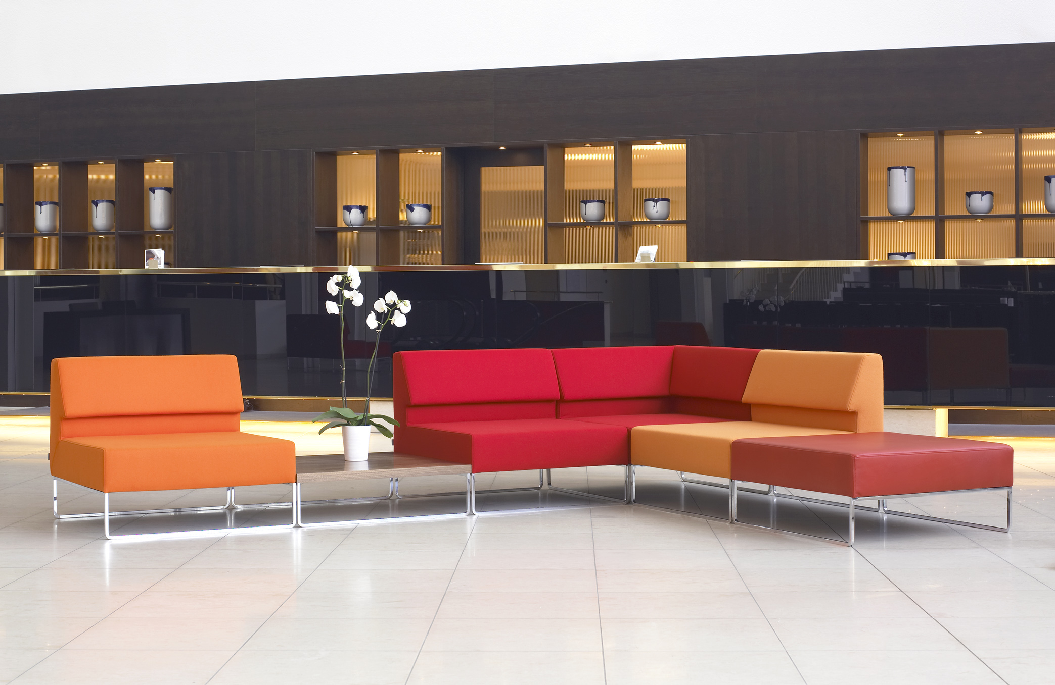 Couch +Halle. Modular couch system. Design Morten Voss